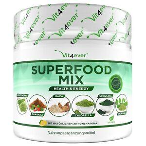 Superfood-Mix - 420g Pulver - Moringa, Spirulina, Chlorella, Gerstengras Vegan