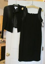 NWT CHRISTIAN DIOR Womens Black Dress Jacket Set Sz 14