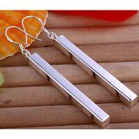 ASAMO Damen Ohrhänger Stab Ohrringe 925 Sterling Silber plattiert O1002