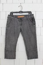Apple Bottoms Womans Jeans Size 9/10 Grey Capri