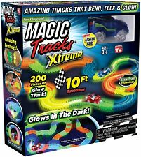 NEW Magic Tracks Extreme Race track Set 10ft As Seen on TV Glow in the Dark