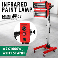 2X1000W Baking Infrared Paint Curing Lamp 602 Automatically With Stand Heater