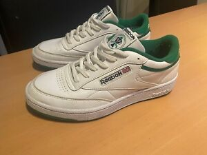 Reebok Classic Club C 85 - 35 years edition. Colour: White/Green - Size 8