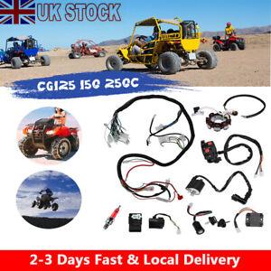 Full Electrics Wiring Harness Wire Loom For ATV QUAD CG125/150/250CC Stator CDI