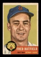 1953 Topps Set Break # 163 Fred Hatfield EX-MINT *OBGcards*