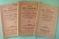 SOLFEGE DES SOLFEGES VOL. 1C 1D ET 1E PAR A. DANHAUSER ET L. LEMOINE
