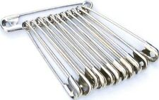 48 TOP QUALITY LARGE SAFETY PINS, 56MM APPROX 2 INCHES LONG, SILVER, FREE P&P