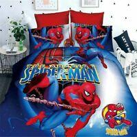 Kids Bedding Set Children Cartoon Printed Single Twin Size Comforter Bed Sheets