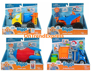 BLIPPI Feature Vehicle Choose Monster Mobile Cement & Recycle Truck Rocket Ship