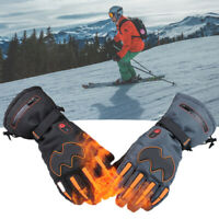 Electric Heated Waterproof Winter Warm Outdoor Sports Skiing Full Finger Gloves