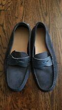EUC Lacoste Men's Loafer Blue Suede Leather  Shoes 7.5 US 40 EU