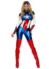 New Ladies Metallic Wonder Woman Costume Hero Fancy Dress Halloween Size UK 12