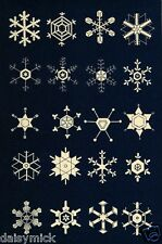 Snow Flakes 1863 The Book of Nature Print 7x5 Inch Reprint Photo
