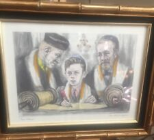 "Vintage Artist Ida Libby Dengrove 1966 Art ""Bar Mitzvah"" Picture Jewish Judaica"