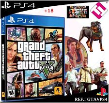JUEGO GTA5 GRAND THEFT AUTO 5 GTAV PS4 PLAYSTATION 4 CD PRECINTADO 100% NUEVO