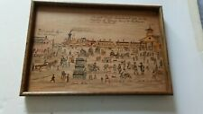 New listing Civil War:Tray with Folk Art painting, Northern Central Railroad, York, Pa, 1861