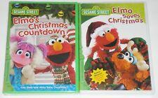 Sesame Street DVD Lot - Elmo's Christmas Countdown & Elmo Saves Christmas (New)