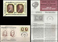 Handel & Bach Music Composer   India FDC Folder  Classical Musik musique Germany