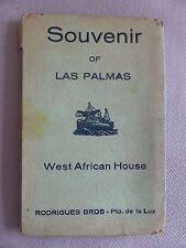 CPA LIVRET 12 CARTES SOUVENIR OF LAS PALMAS WEST AFRICAN HOUSE GRAND CANARY PUER
