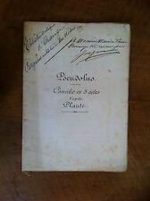 PLAUTE - GASTAMBIDE Jules (adaptation) - Pseudolus. - Envoi manuscrit -