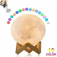 3D Moon Lamp,16 Colors with Stand, Portable Touch & Remote Control, USB charging