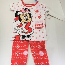 Girls 24 months Minnie Mouse Christmas Pajamas NEW