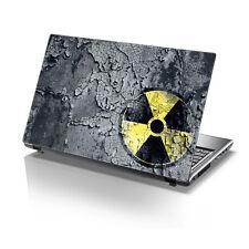 """TaylorHe 15.6"""" Computadora Portátil Piel De Vinilo Pegatina Calcomanía Rusty Bio-peligro signo 2134"""
