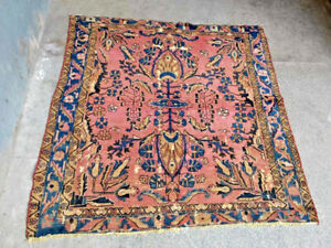 COLLECTORS' PIECE Antique Caucasus Square Rug,Very High Qulity Central Asian Rug