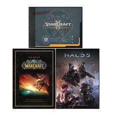 Art of Halo 5, StarCraft Field Manual, Art of World of Warcraft 3 Books Set Pack