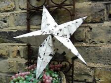 HAND CRAFTED SHABBY VINTAGE CHIC AMISH TIN BARN STAR ORIGINAL WHITE CHIPPY PAINT