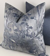 "Clarke & Clarke Diffusion Silhouette in Denim Handmade Cushion Cover, 18""x18"""