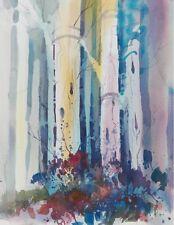 """MORNING BLUE""  original watercolor by American artist Micheal Jones"