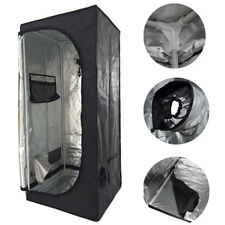 More details for new 60x60x140 indoor grow tent bud dark green room hydroponics box mylar silver