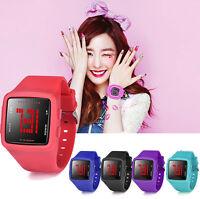 Women Men's LED Digital Sports Watch Waterproof Casual Silicone Strap Wristwatch