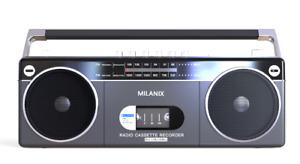 Bluetooth Portable Cassette Player Recorder Boombox AM/FM Radio USB/SD - Gray