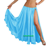 Satin 2 Slit Full Skirt Belly Dance Gypsy Tribal 9 Yard Panel Jupe Flamenco Boho