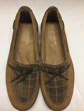 Grasshoppers Ortholite Memory Foam Brown/ Plaid Womens Size 6.5 Slip On Shoe