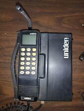 Vintage Uniden Portable Cell Phone Black Cigarette/AC Charger Fair Condition
