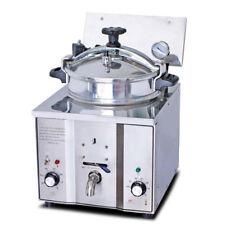 Electric Countertop Pressure Fryer Stainless Steel Chicken Fish+Basket 110/220V