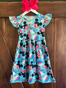 Minnie Mouse Dress Disney World Dress Milk Silk NWT FREE Bow, All Sizes
