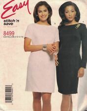McCall's Easy Stitch & Save 8499 Misses Fitted Dress with Sleeve Variation 8-14