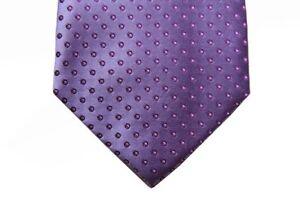 Battisti Tie Lilac with wine circle pattern, hidden pocket, pure silk