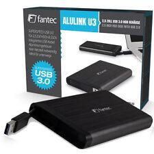 """500 GB EXTERNE 2,5"""" SATA FESTPLATTE - FANTEC AluLink - USB 3.0 / BLACK - NEU"""