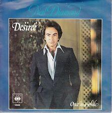"NEIL DIAMOND  Desiree PICTURE SLEEVE 7"" 45 rpm record + juke box title strip NEW"