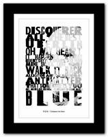 ❤ R.E.M - Collapse Into Now ❤ typography poster art print - A1 A2 A3 or A4