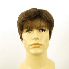 Perruque homme 100% cheveux naturel châtain clair ref FRED 8