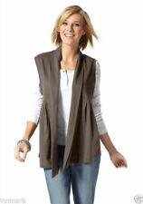 Collared Sleeveless Hip Length Tops & Shirts Plus Size for Women