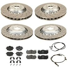 Genuine Front & Rear Vented & Drilled Disc Brake Rotors For BMW F06 F10 F12 F13