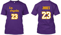 Lebron James 23 Los Angeles LA - Men Women Youth Tee T Shirt, Purple XS-3XL