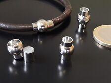4 Cierres Acero Inoxidable 4mm (CP-30) pulsera abalorios fornituras cierre cuero
